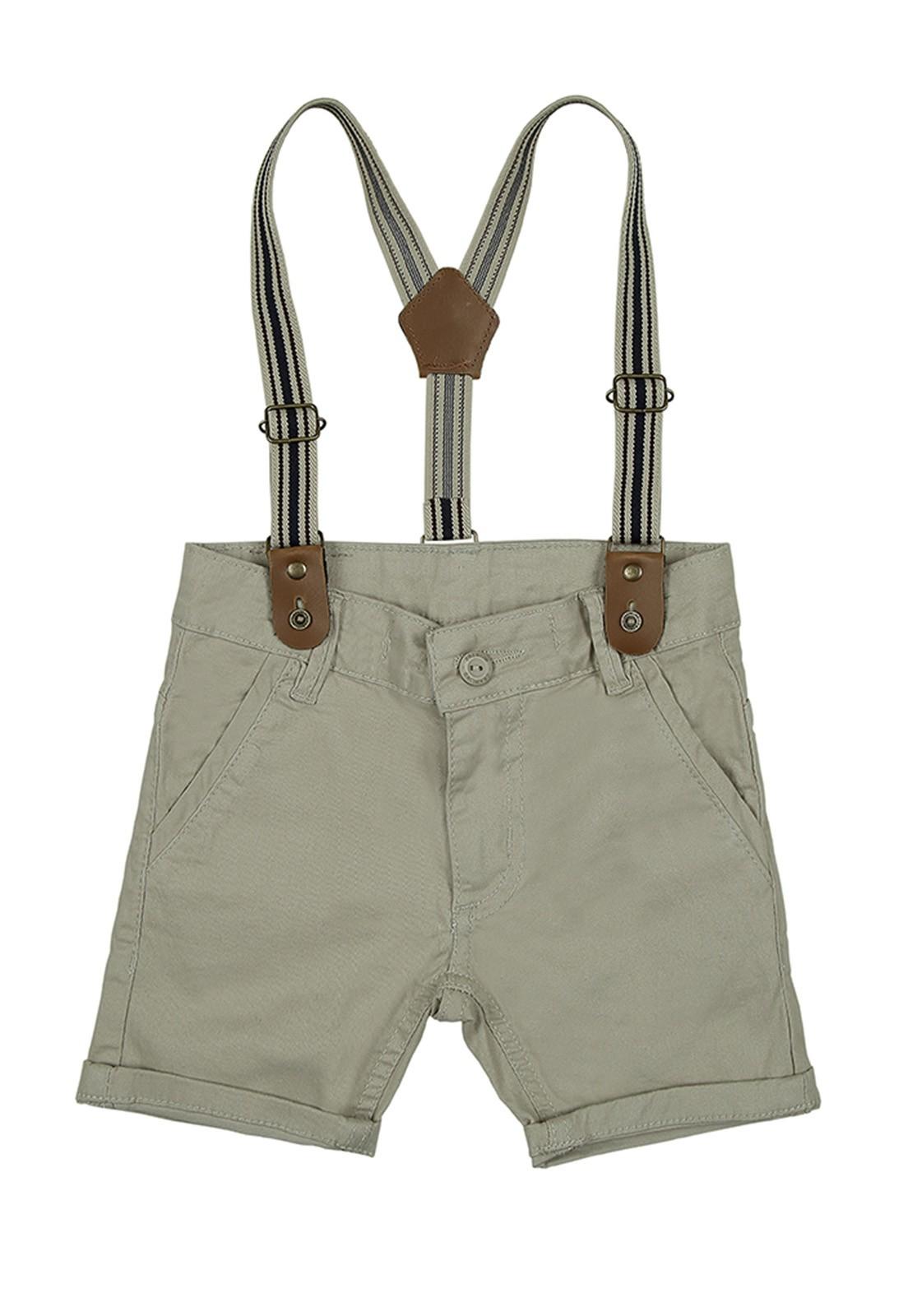 Bermuda Crawling Jeans Masculina com Suspensório