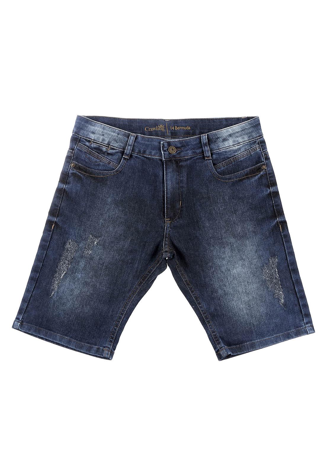Bermuda Crawlling Jeans Masculina