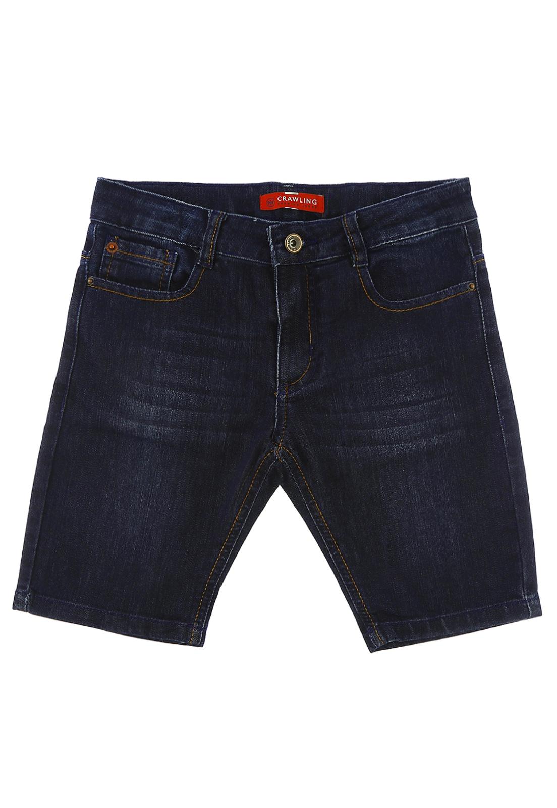Bermuda Infantil Masculina Crawling Jeans