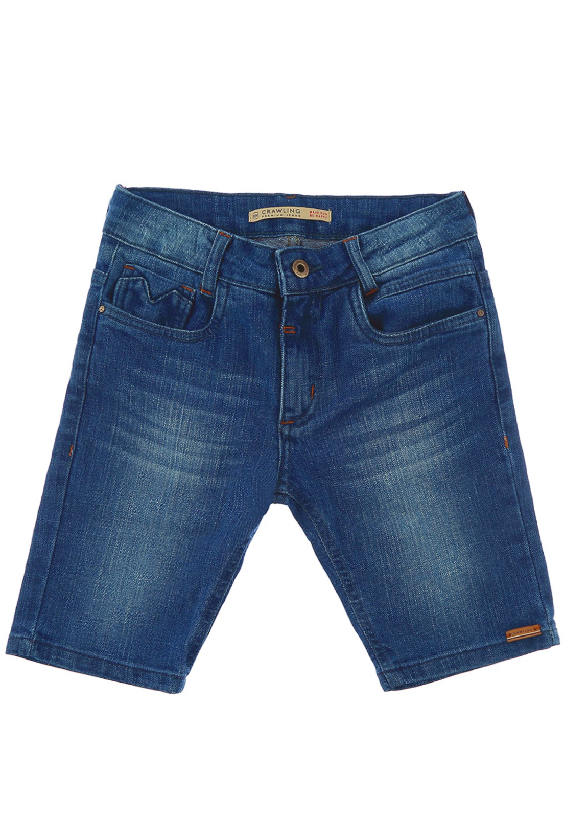 Bermuda Infantil Masculina Jeans Crawling