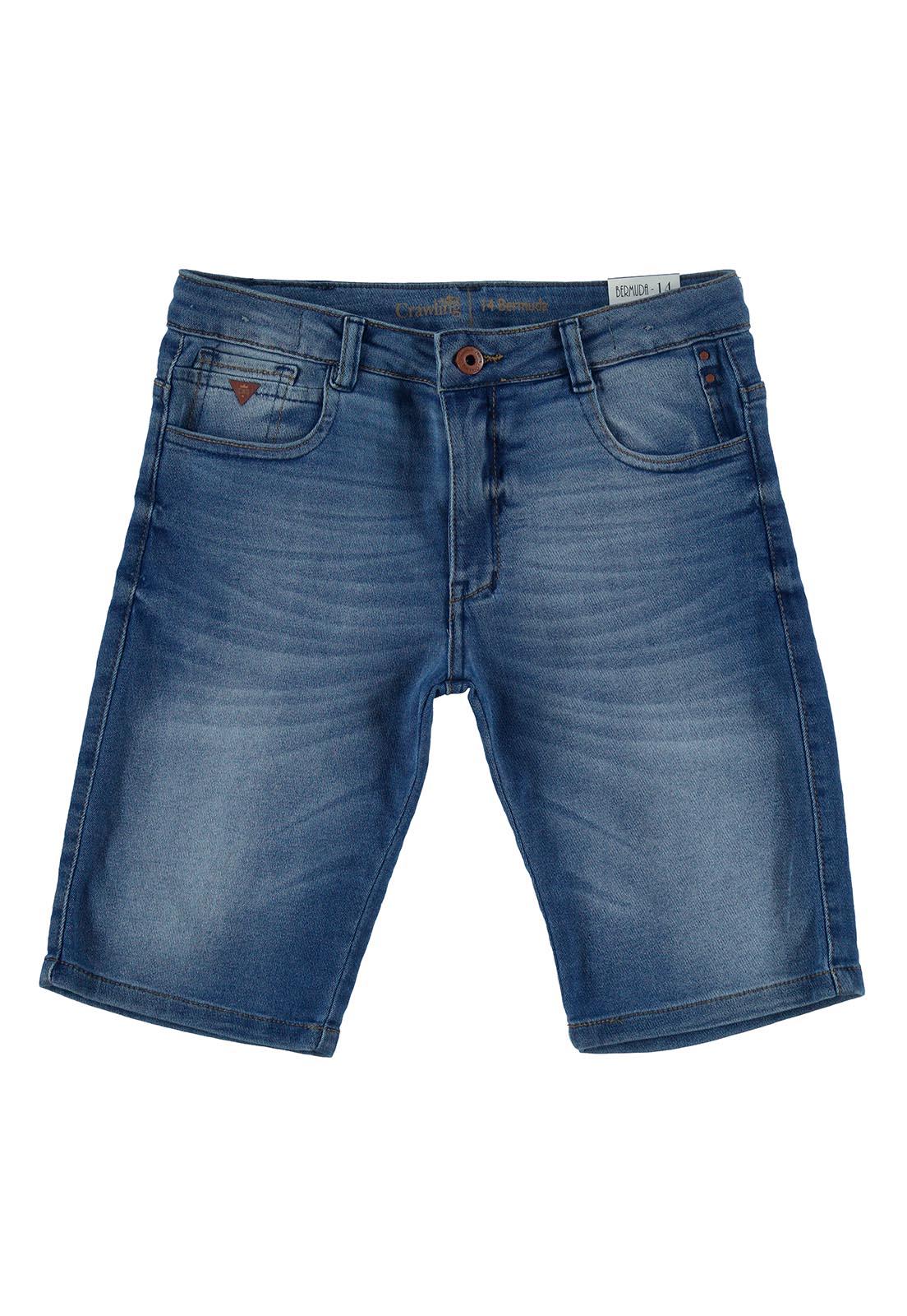 Bermuda Jeans Crawling Masculina