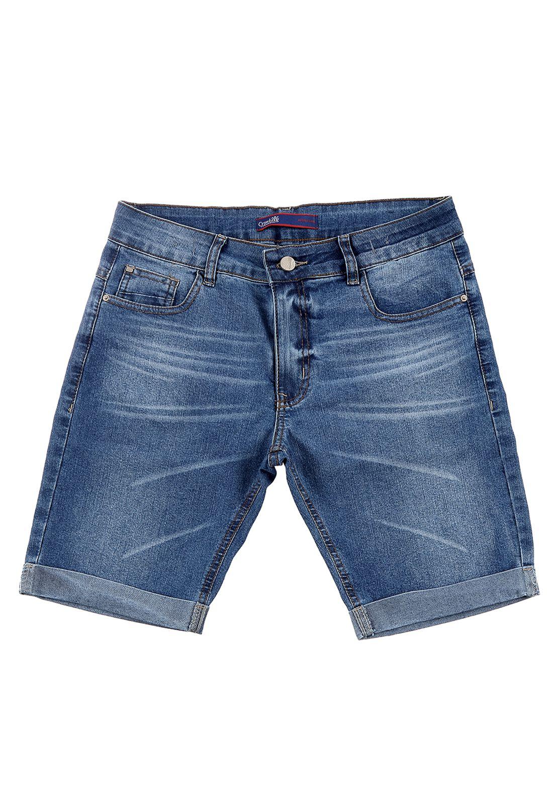 Bermuda Jeans Crawling Premium Masculina