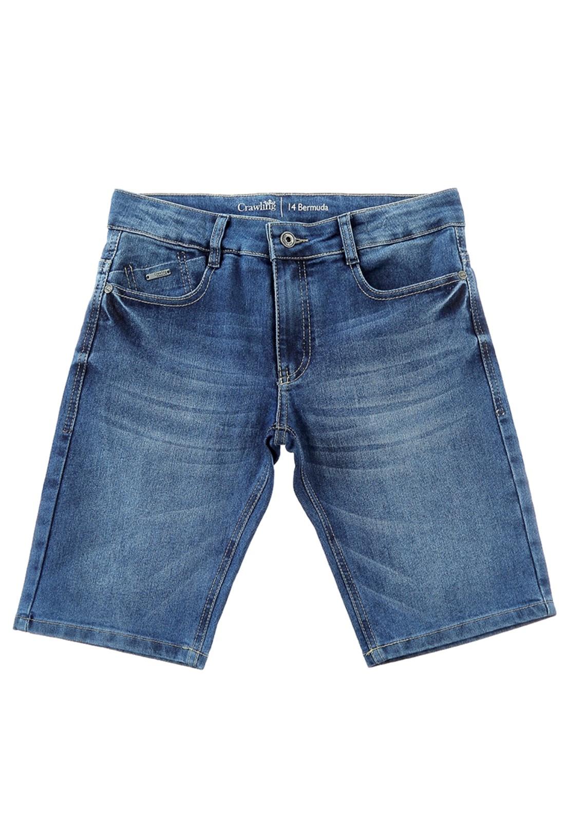 Bermuda Jeans Eco Dye Masculina