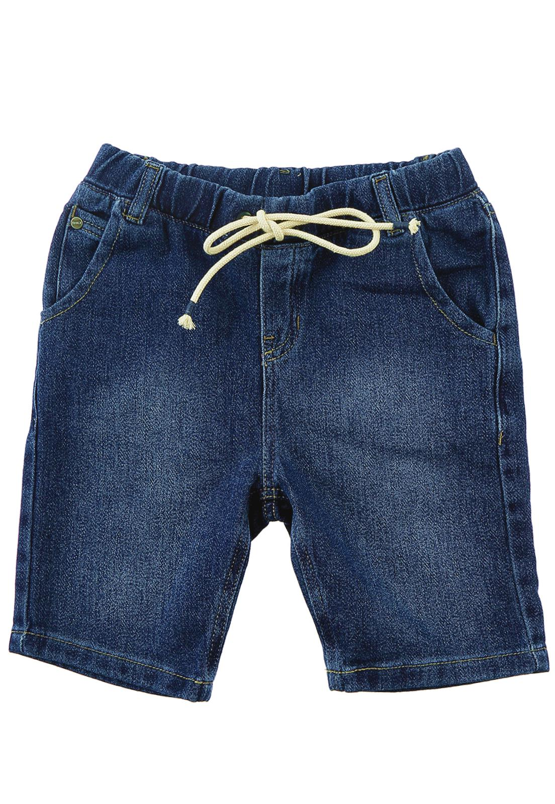 Bermuda Jogger Jeans Moletom Masculina