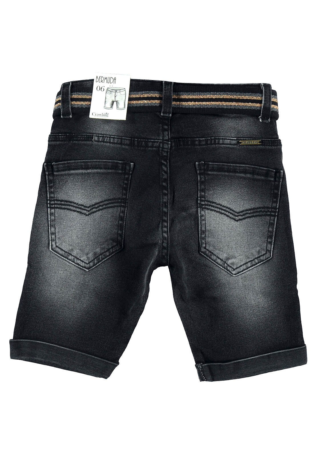 Bermuda Masculina Crawling Jeans C/Cinto