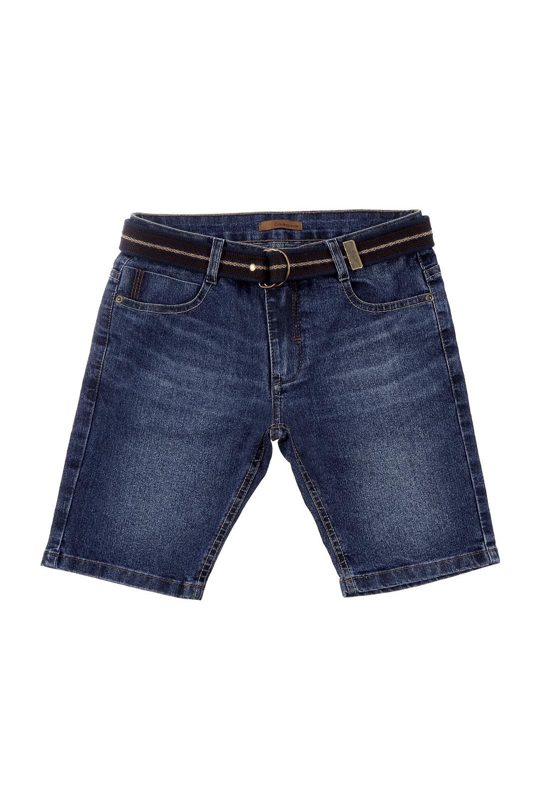 Bermuda Masculina Crawling Jeans com Cinto