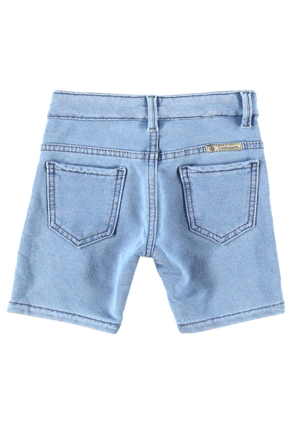 Bermuda Masculina Crawling Jeans Moletom