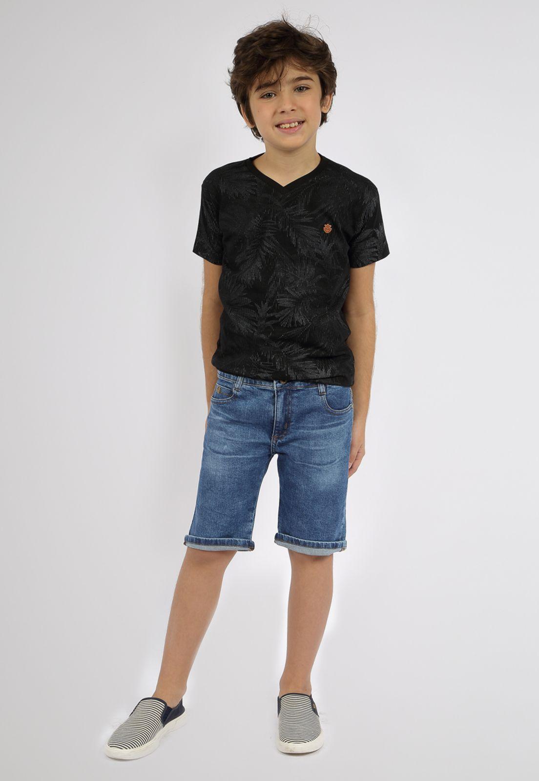 Bermuda Masculina Jeans Eco Dye