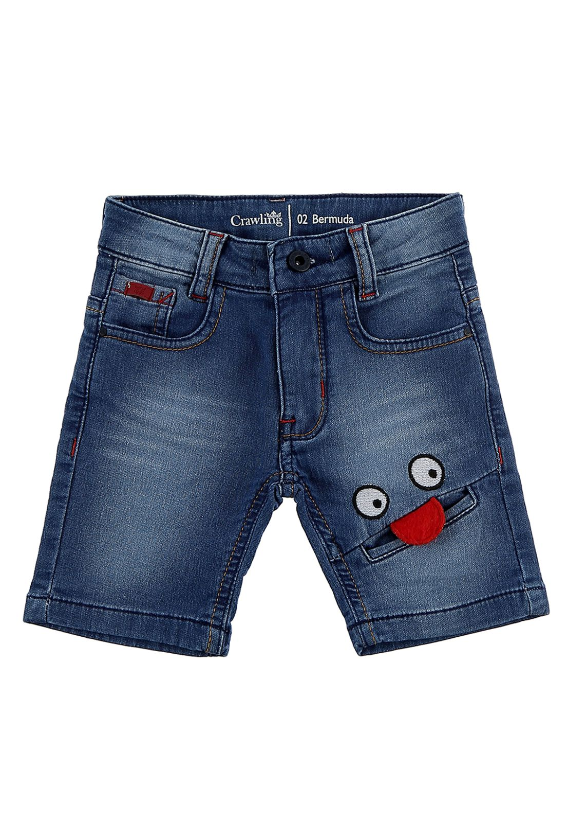 Bermuda Masculina Moletom Crawling Jeans