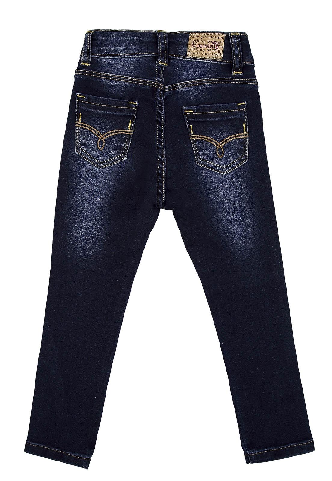 Calça Baby Girl Crawling Jeans Skinny