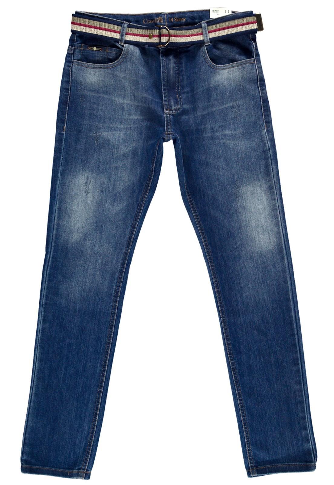 Calça C/Cinto Crawling Masculina Skinny Jeans