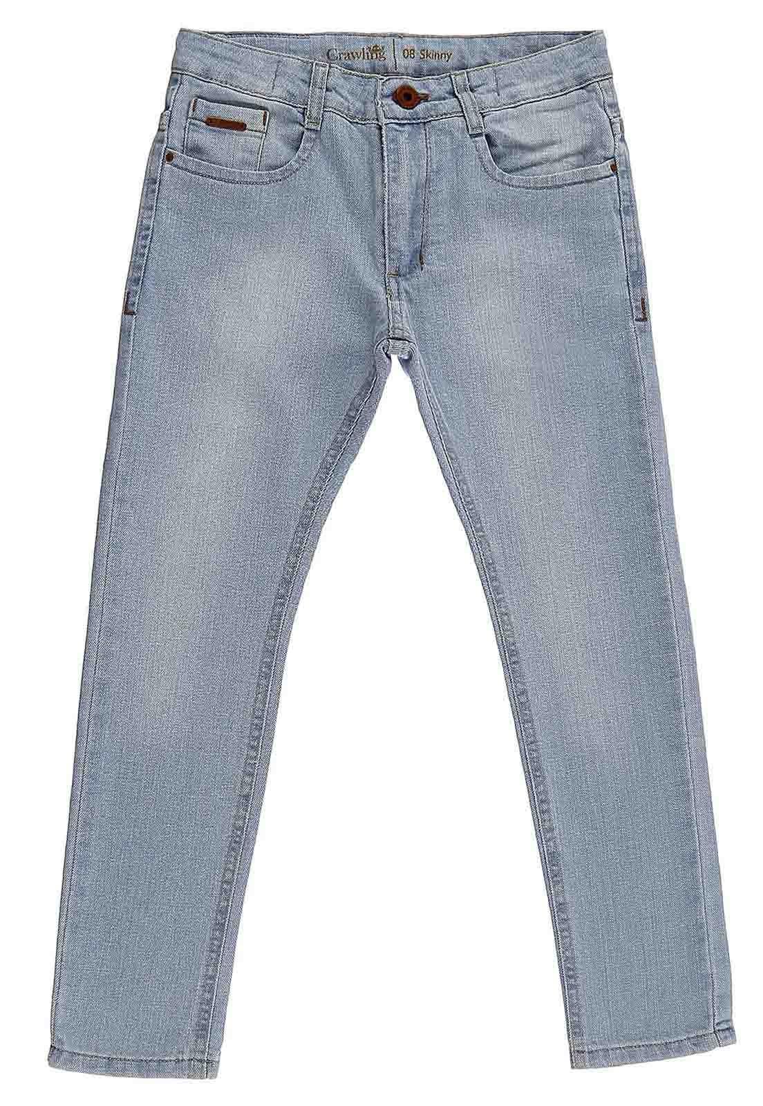 Calça Crawling Jeans Skinny Masculina Comfty