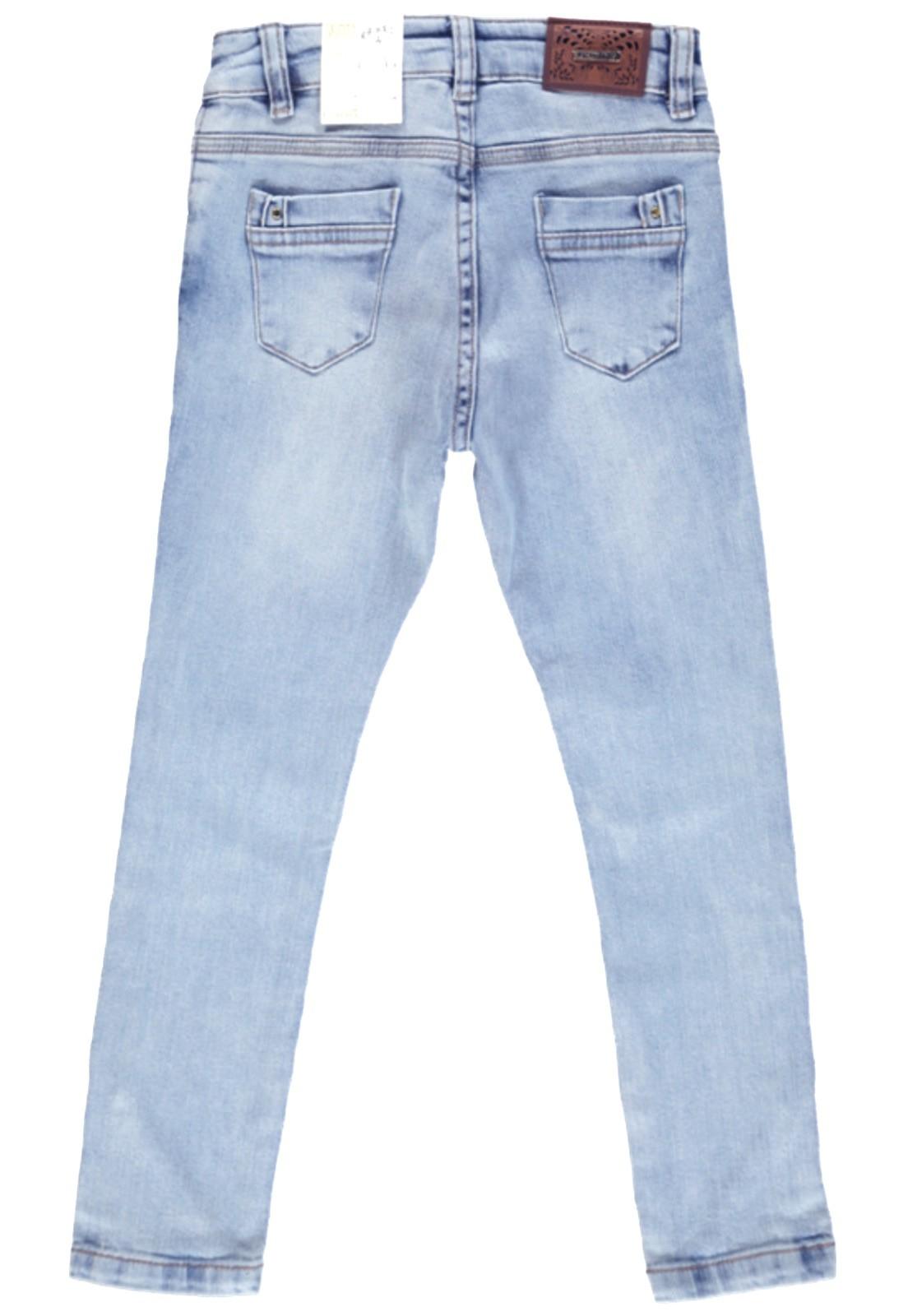 Calça Feminina C/Strass Crawling Skinny Jeans