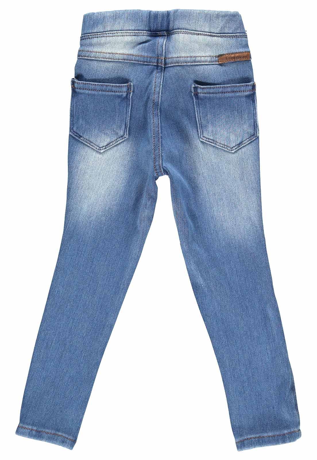Calça Feminina Jegging Crawling Jeans Moletom