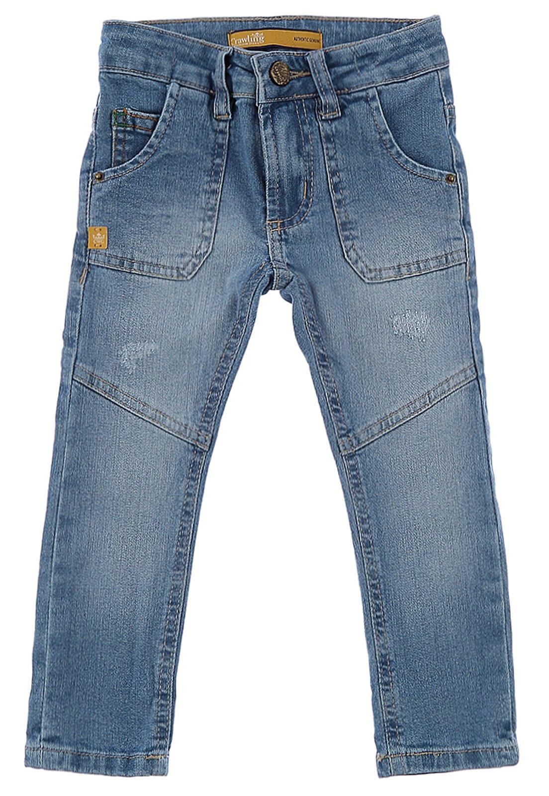 Calça Infantil Bebê Skinny Crawling Jeans