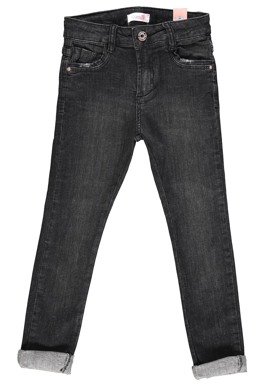Calça Jeans Feminina Crawling Skinny Black