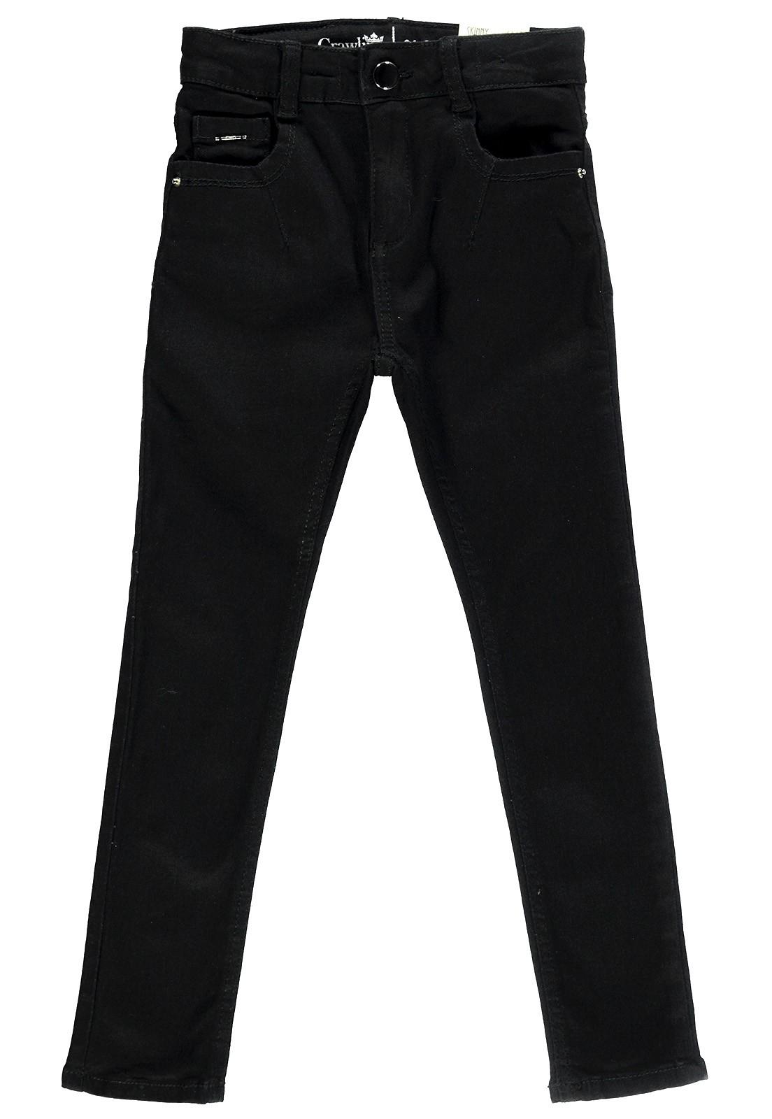 Calça Jeans Feminina Crawling Skinny Preta