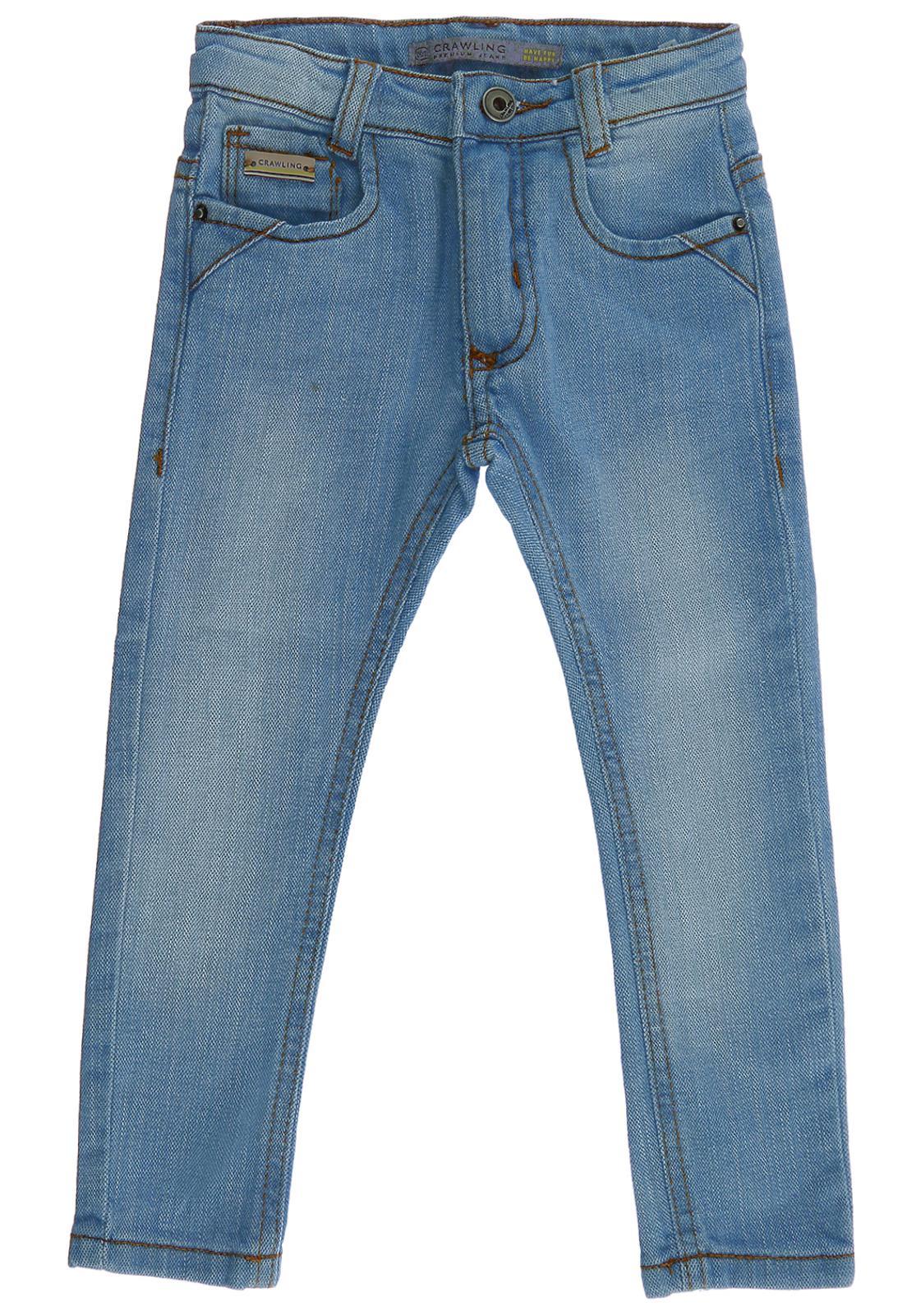 Calça Jeans Infantil Bebê Crawling