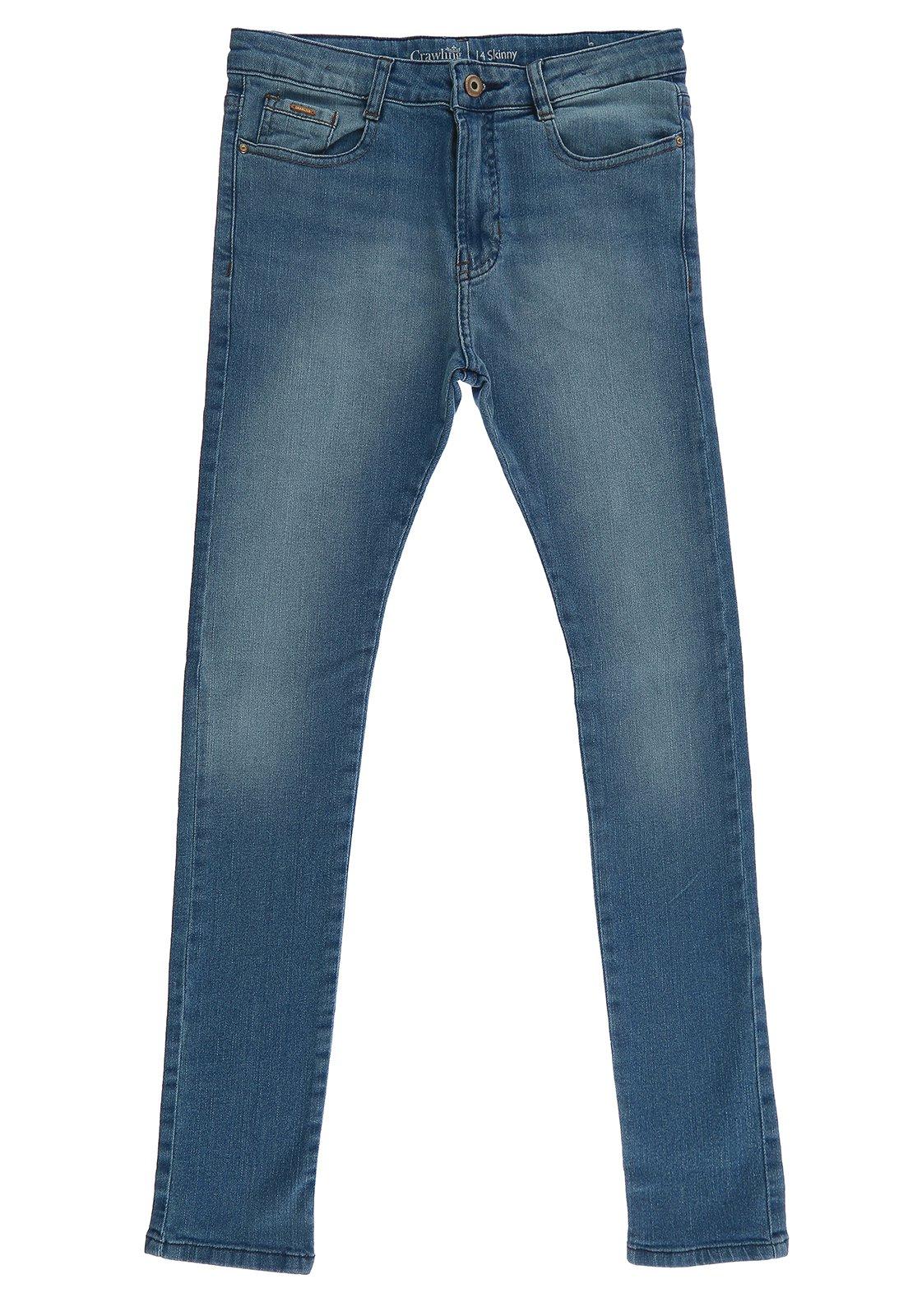 Calça Jeans Masclina Skinny Crawling