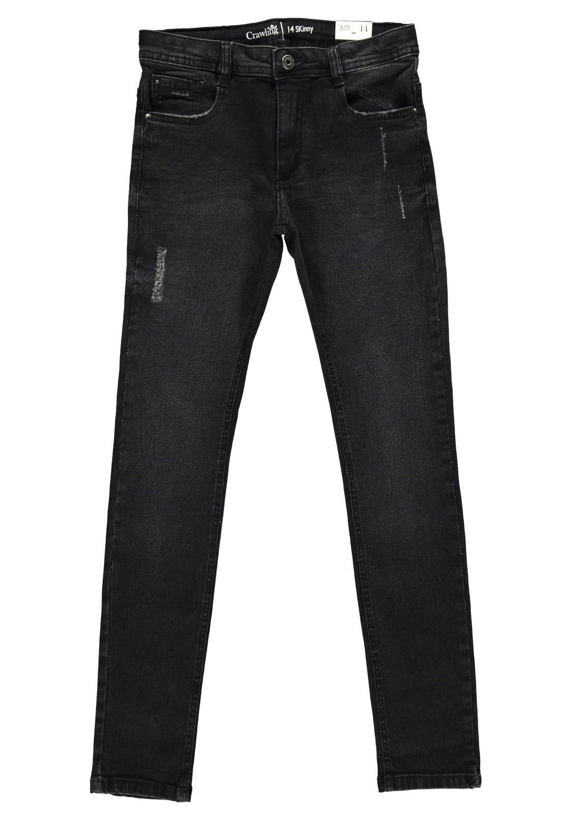Calça Jeans Masculina Crawling Skinny Black