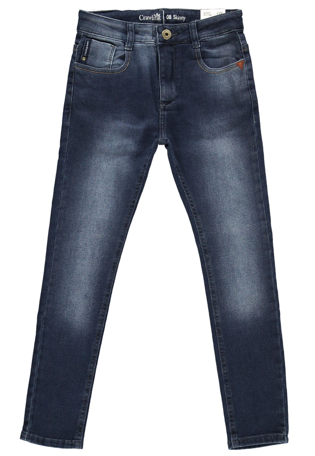 Calça Jeans Moletom Crawling Masculina Skinny
