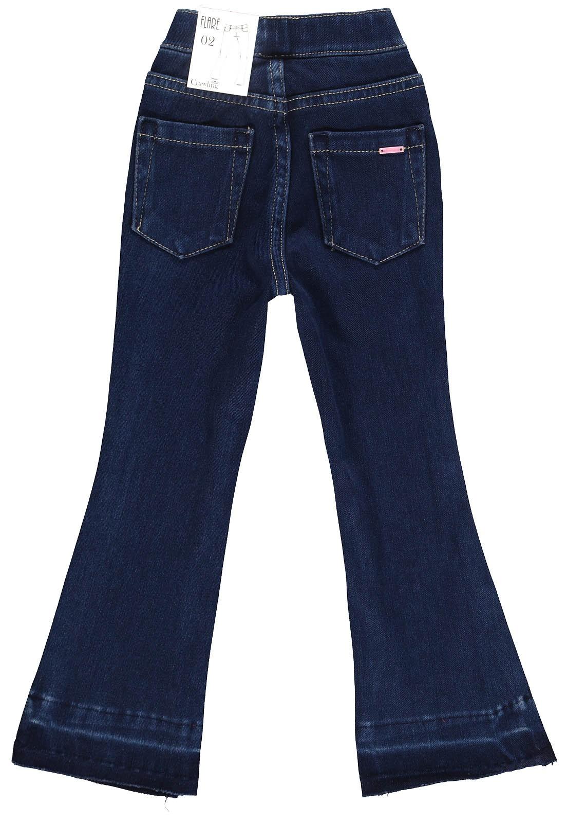 Calça Jeans Moletom Feminina Crawling Flare