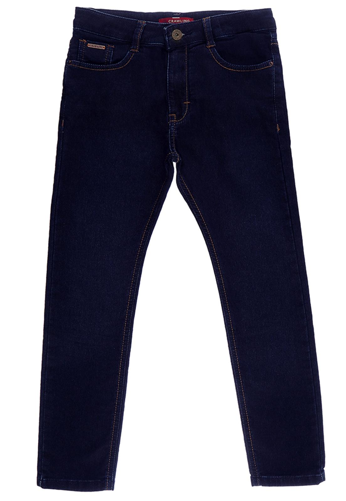 Calça Jeans Moletom Infantil Crawling