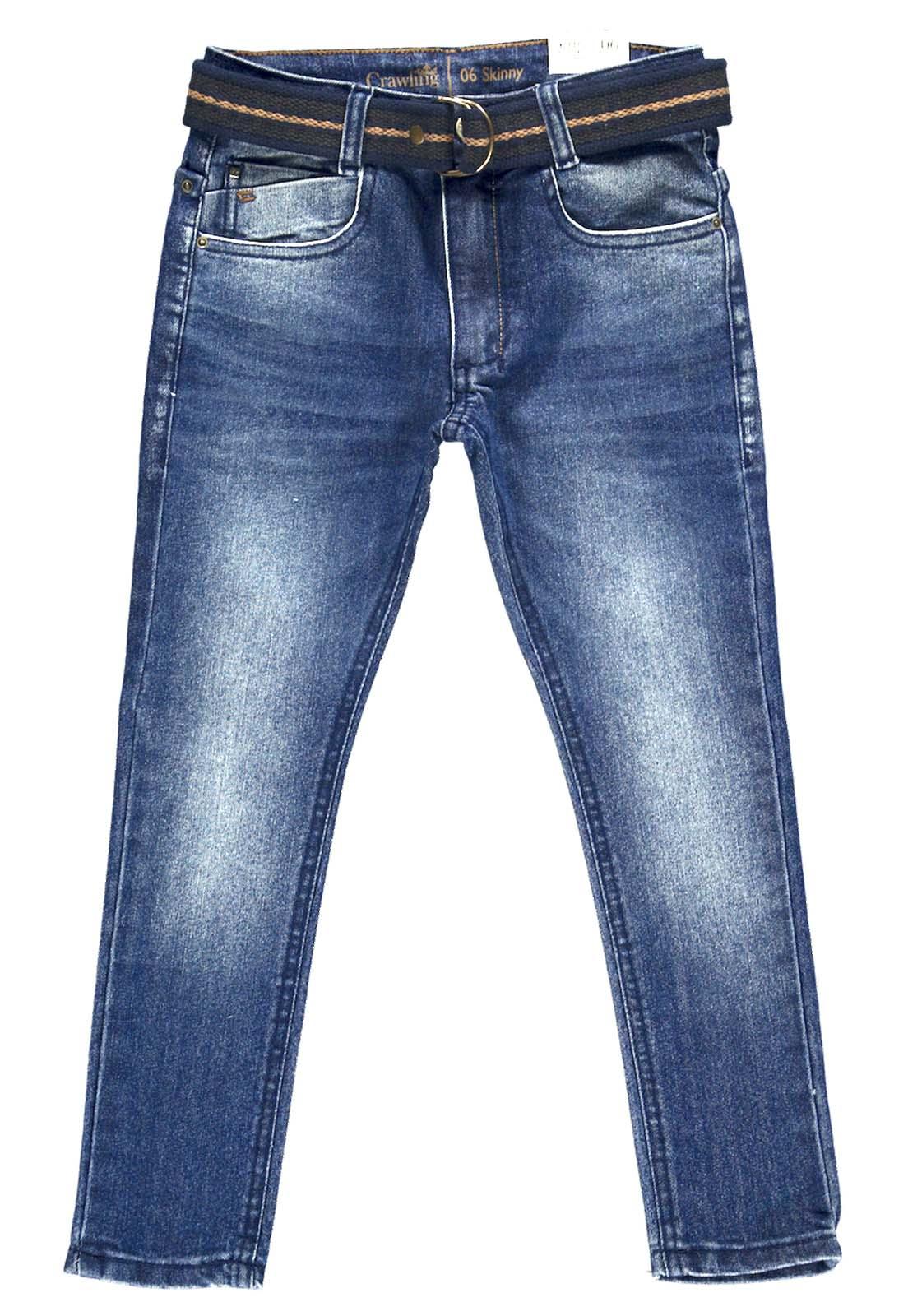 Calça Masculina C/Cinto Crawling Skinny Jeans