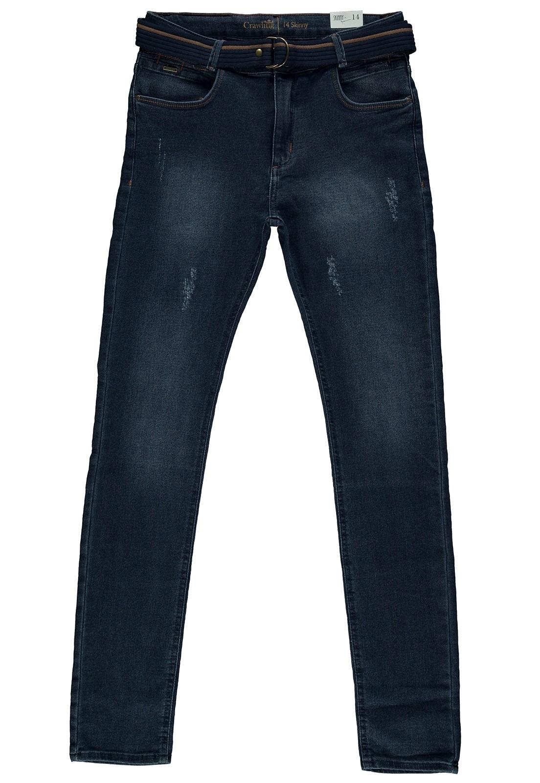 Calça Masculina Skinny com Cinto