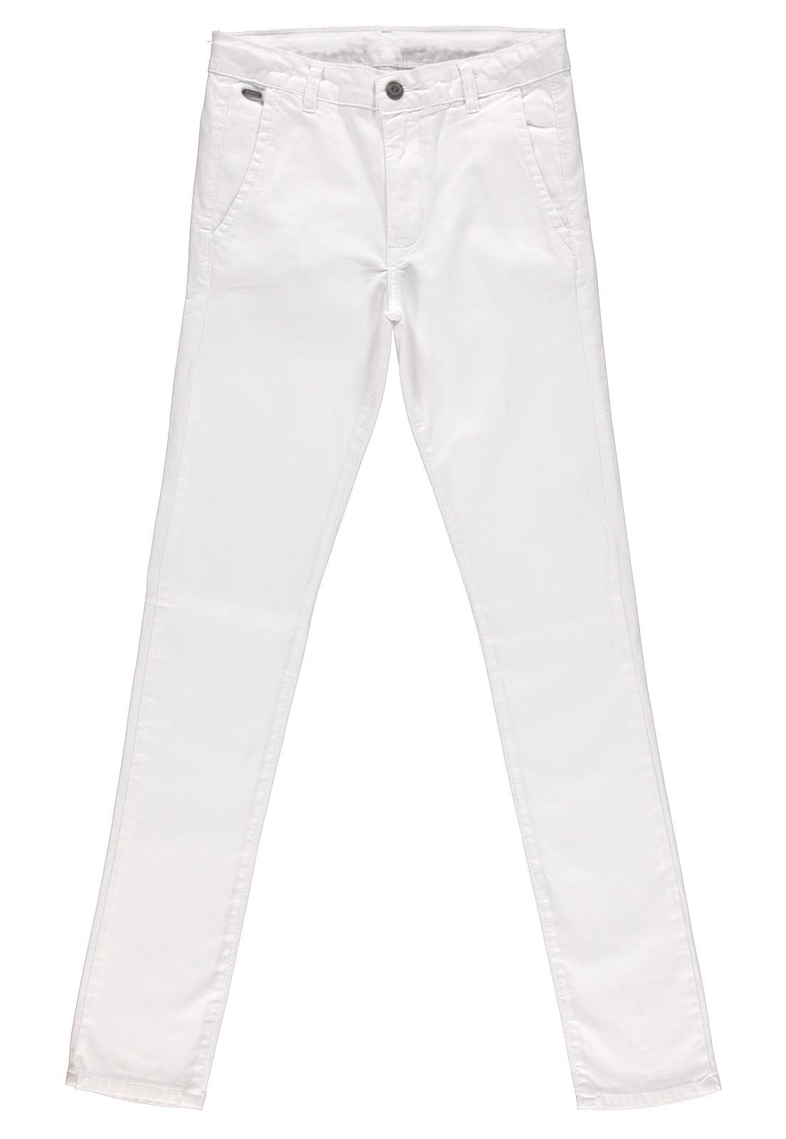 Calça Sarja Masculina Crawling Alfaiataria Branca