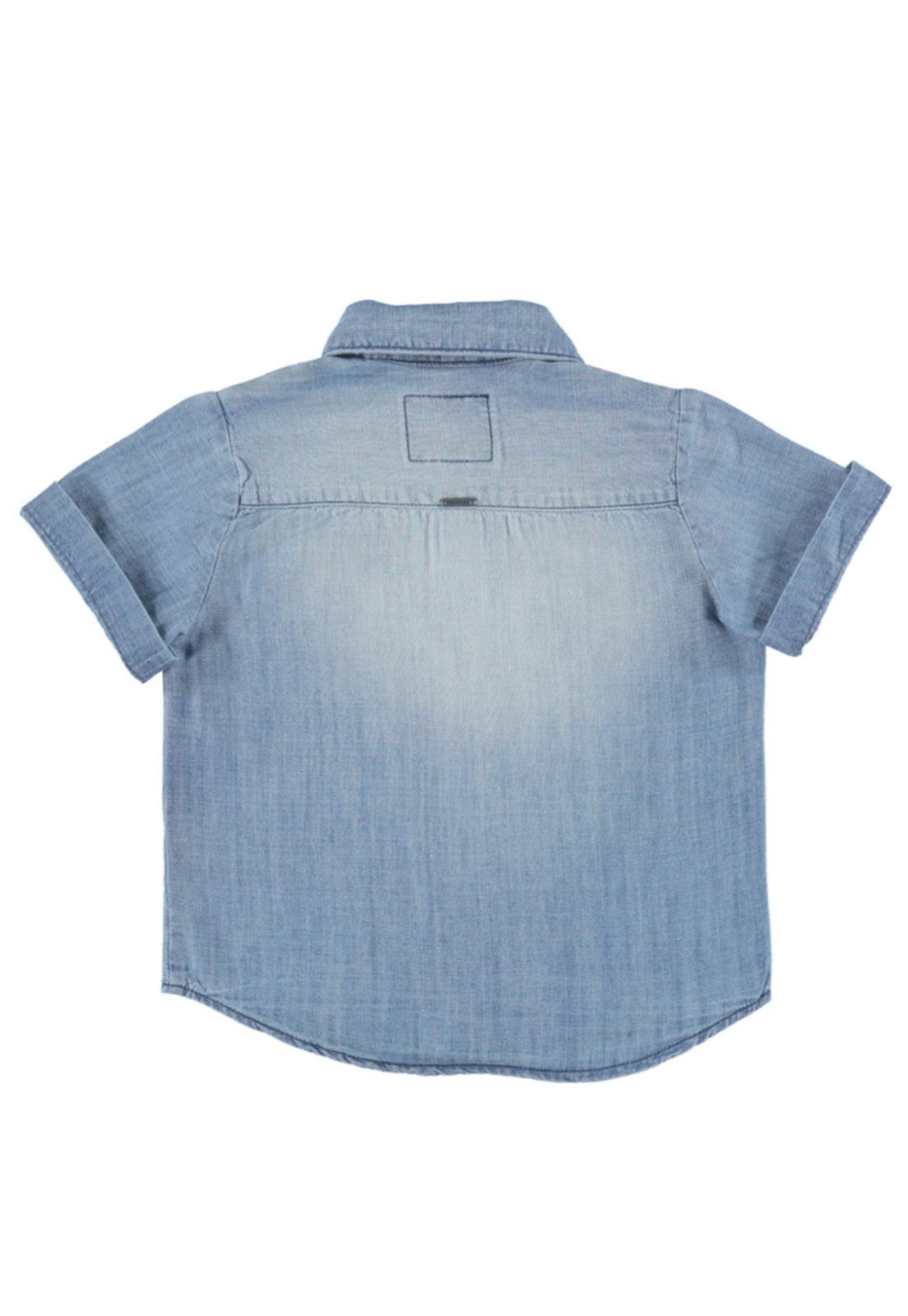 Camisa Crawling Jeans Baby Boy