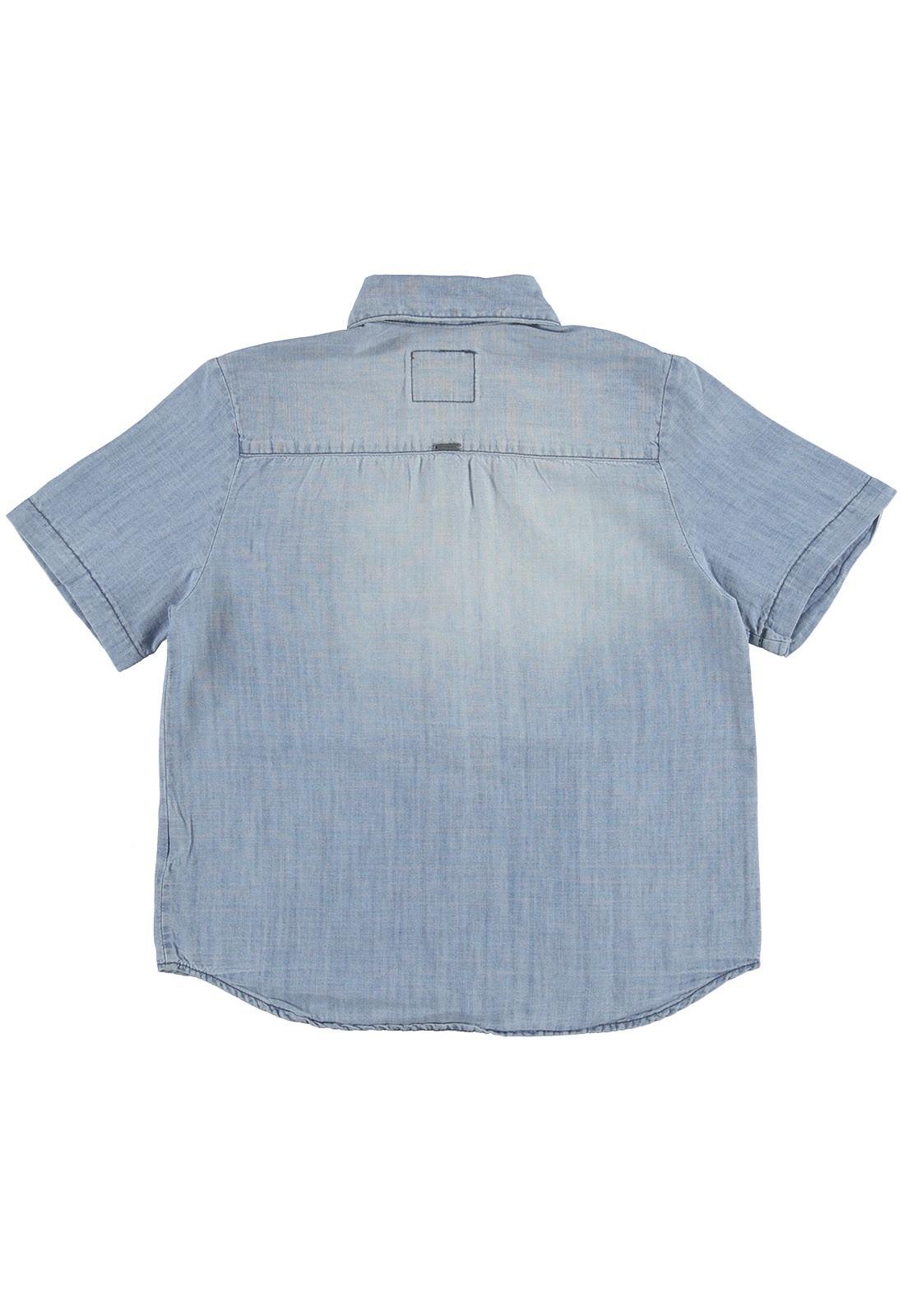 Camisa Crawling Manga Curta Masculina