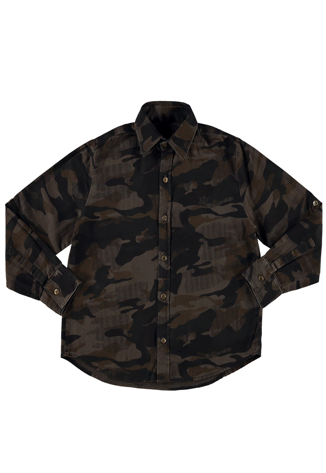 Camisa Crawling Manga Longa Militar