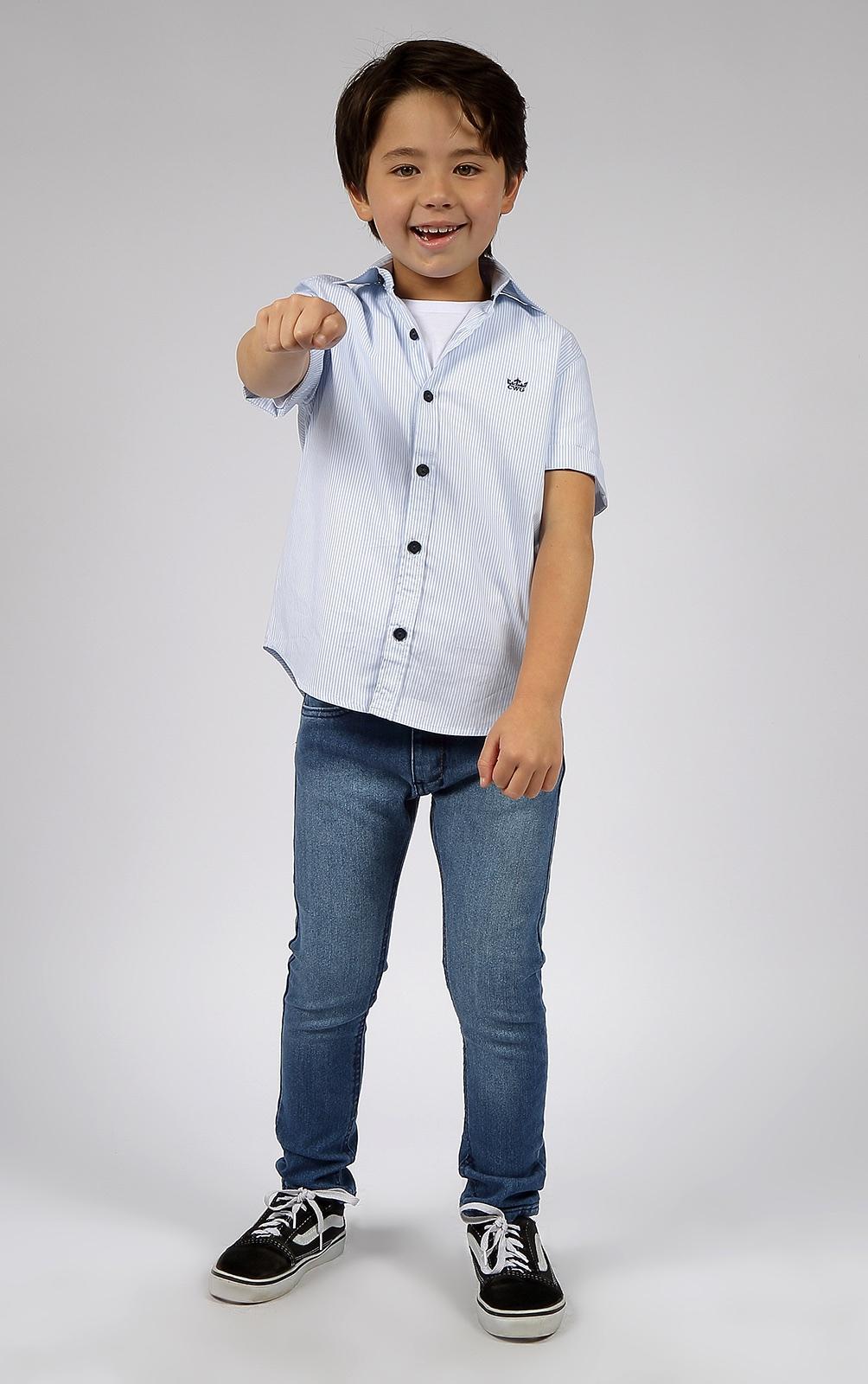 Camisa Manga Curta Infantil Menino 4 ao 8