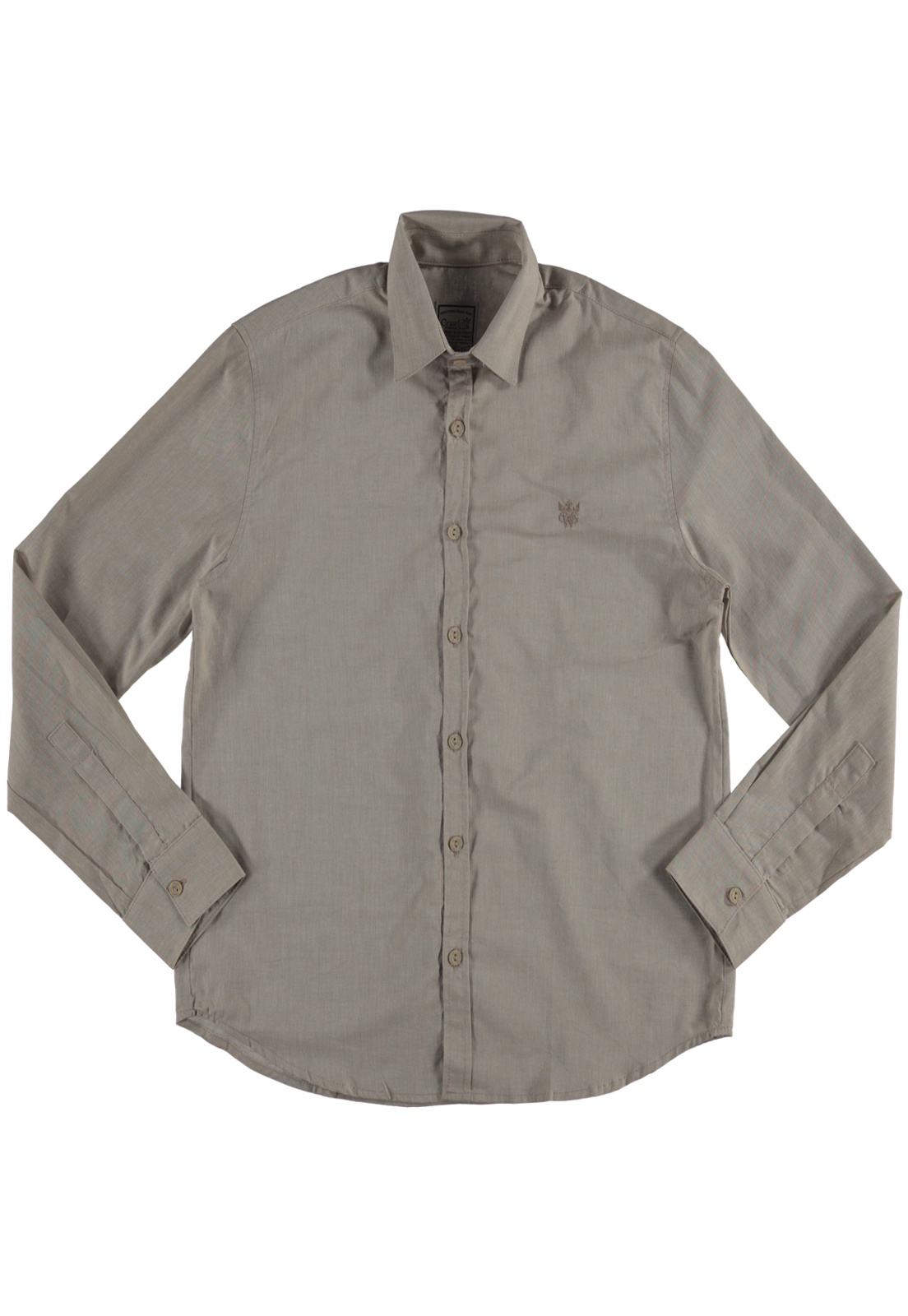 Camisa Manga Longa  Masculina Creme