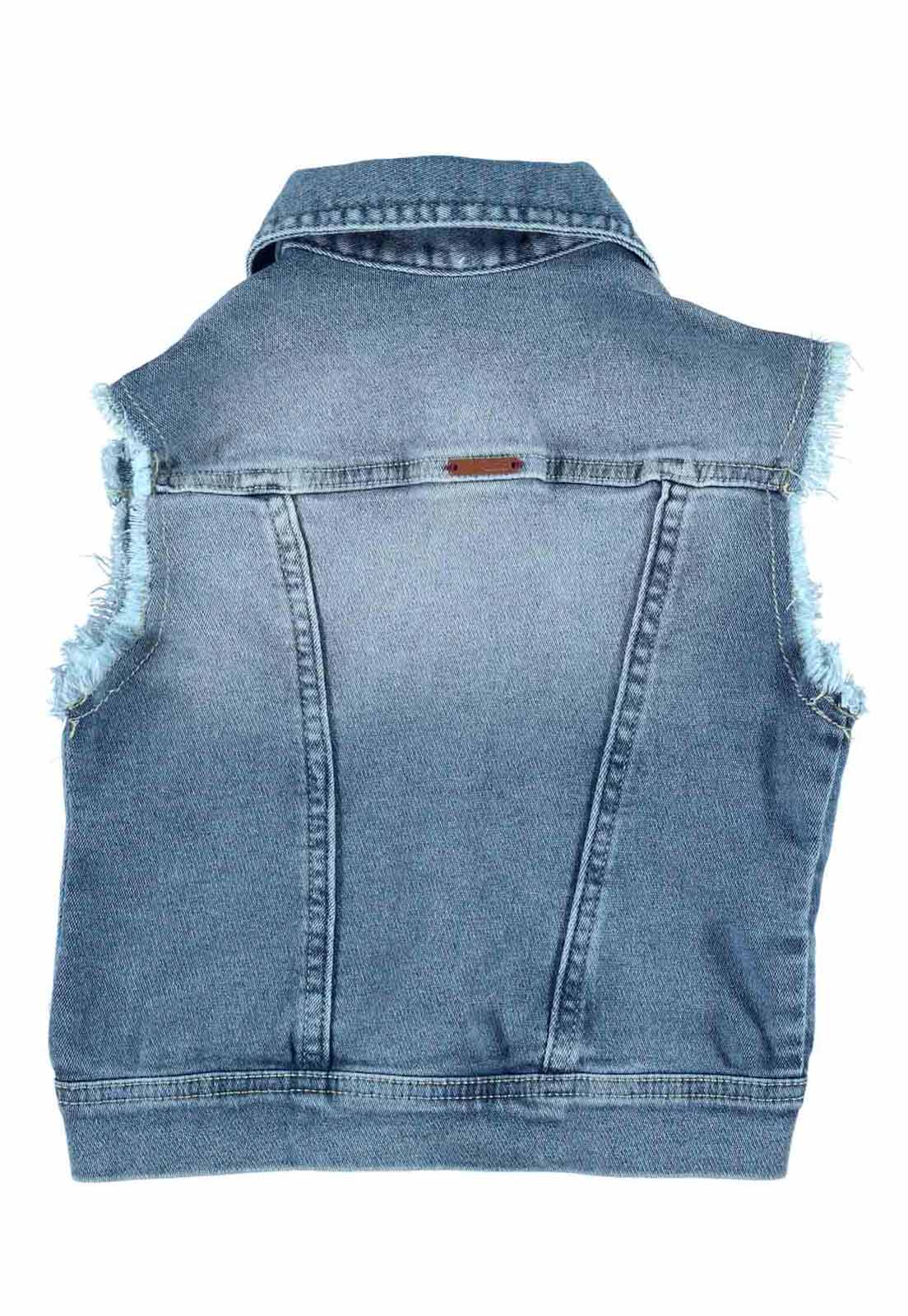 Colete Feminino Crawling Jeans Moletom