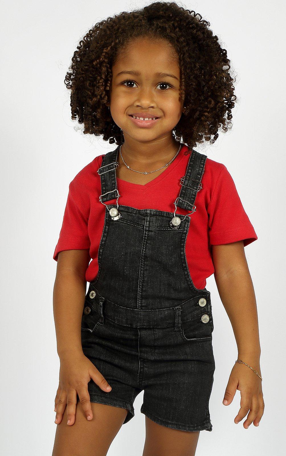 Jardineira Baby Girl Crawling Jeans