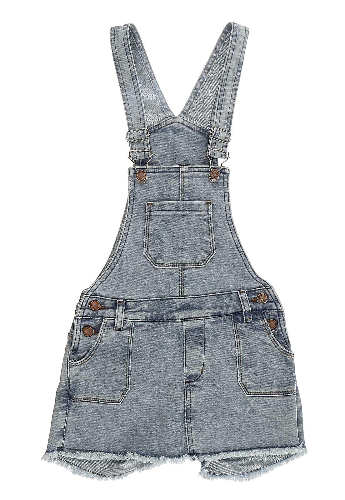 Jardineira Crawling  Jeans