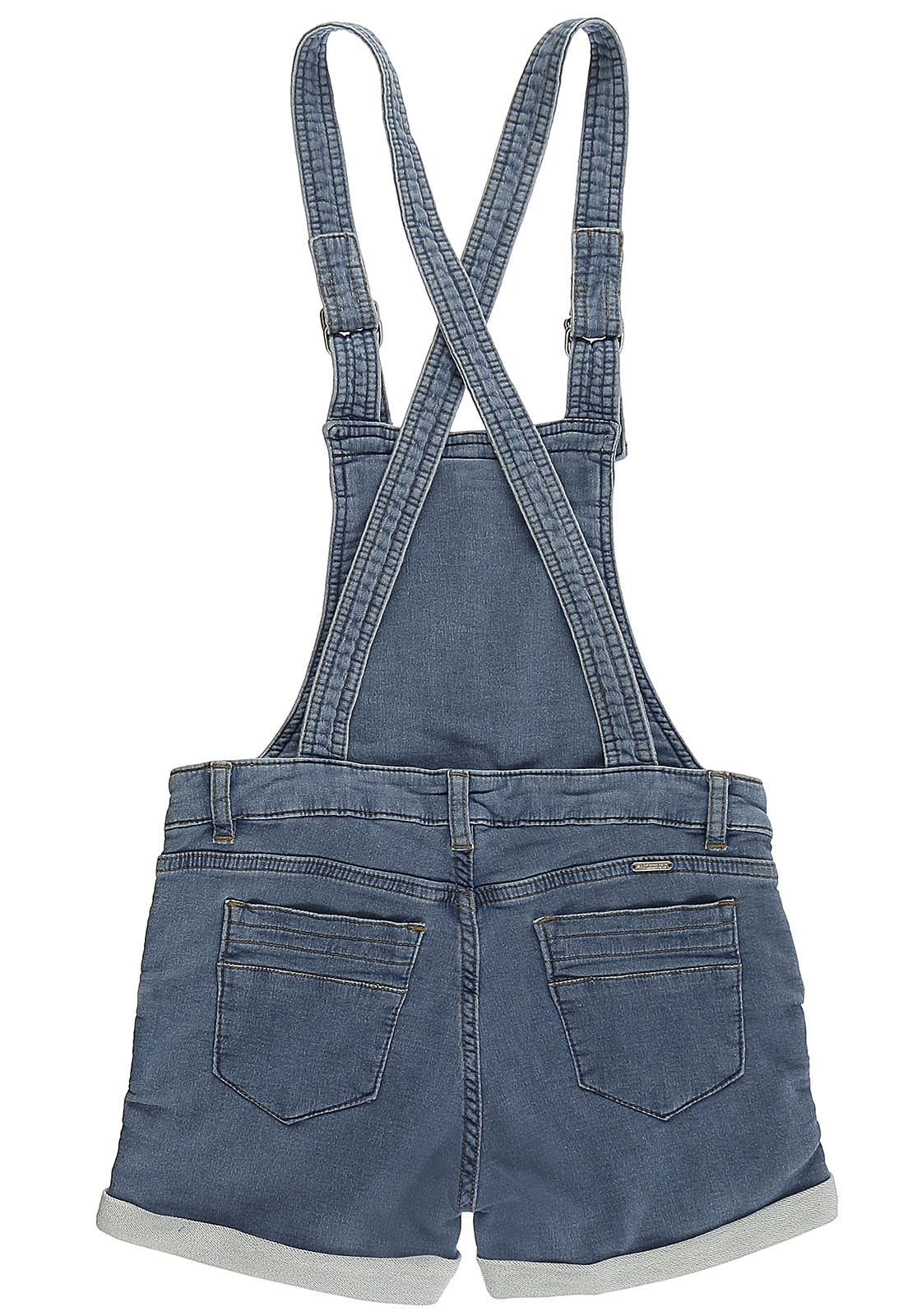 Jardineira Crawling Jeans Comfty Feminina