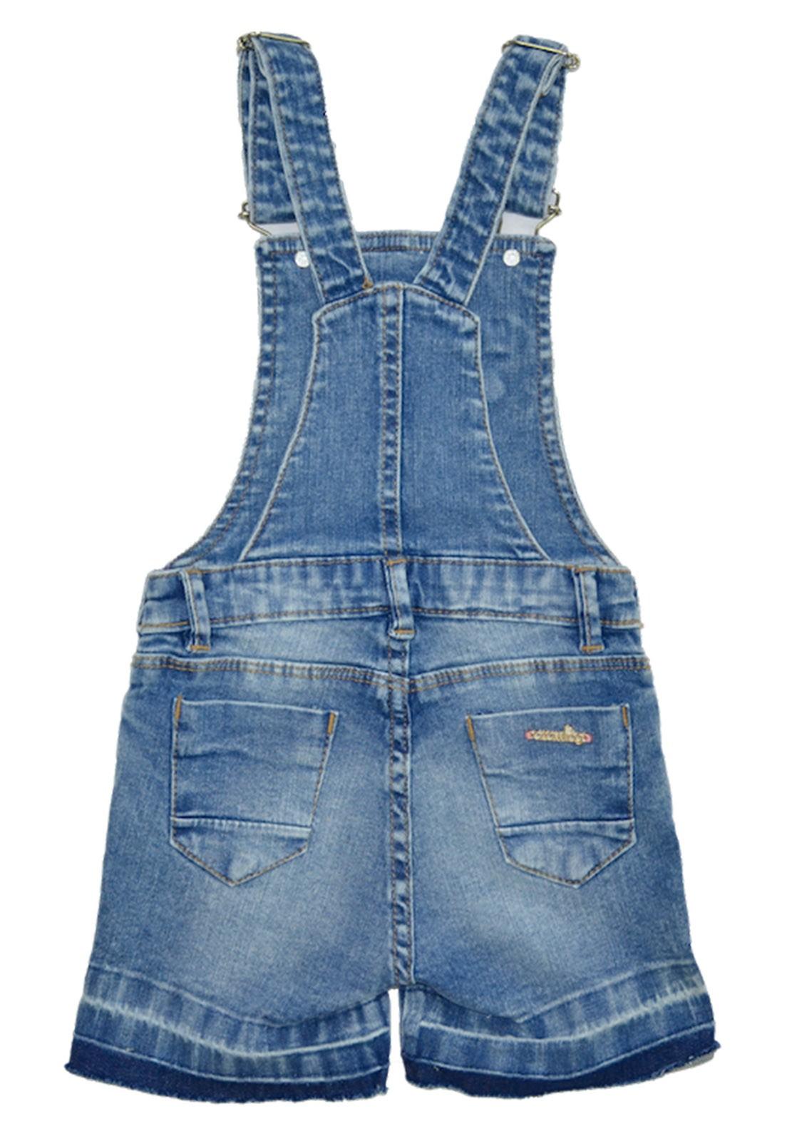 Jardineira Crawling Jeans Feminina
