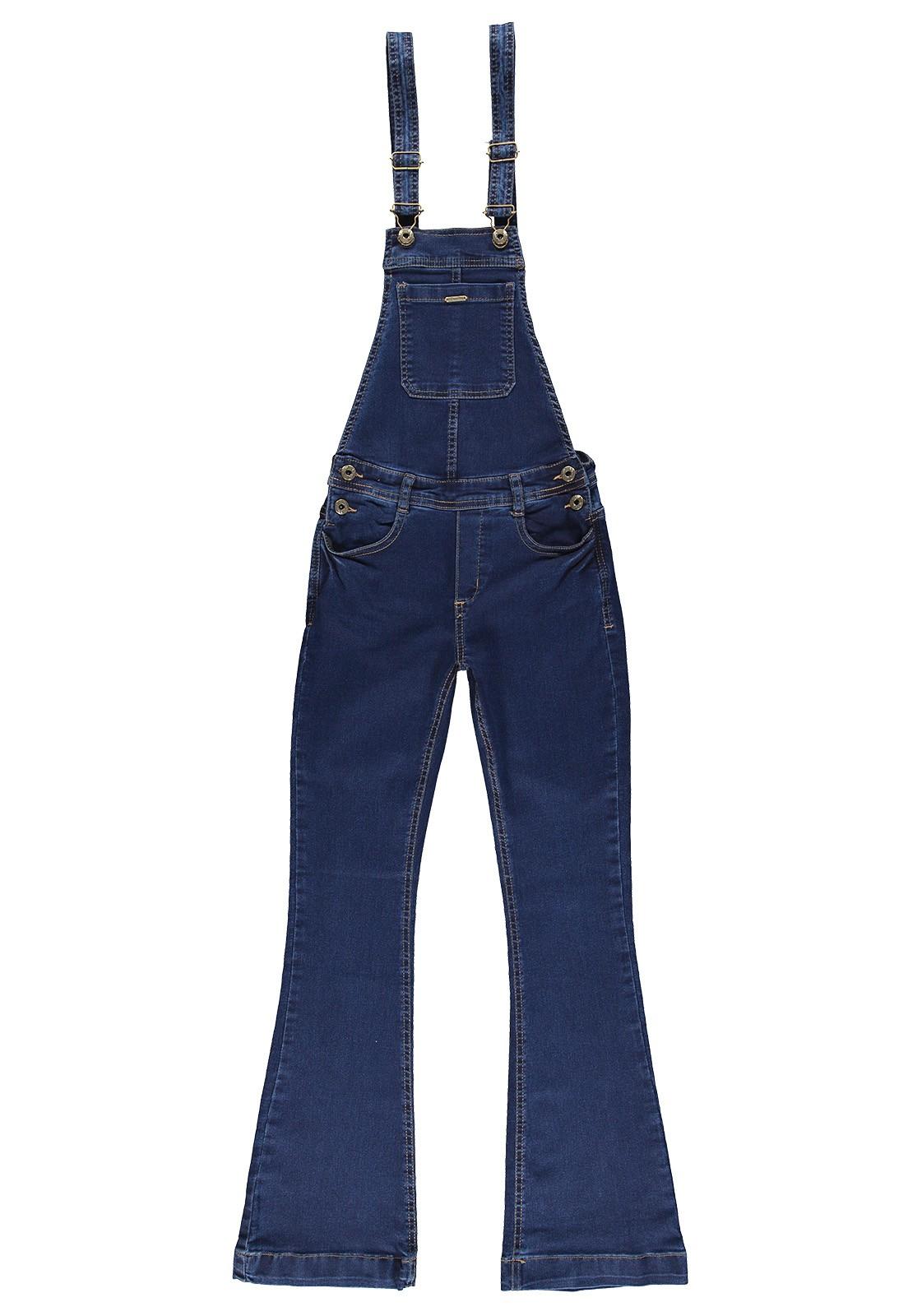 Jardineira Flare Feminina Crawling Jeans