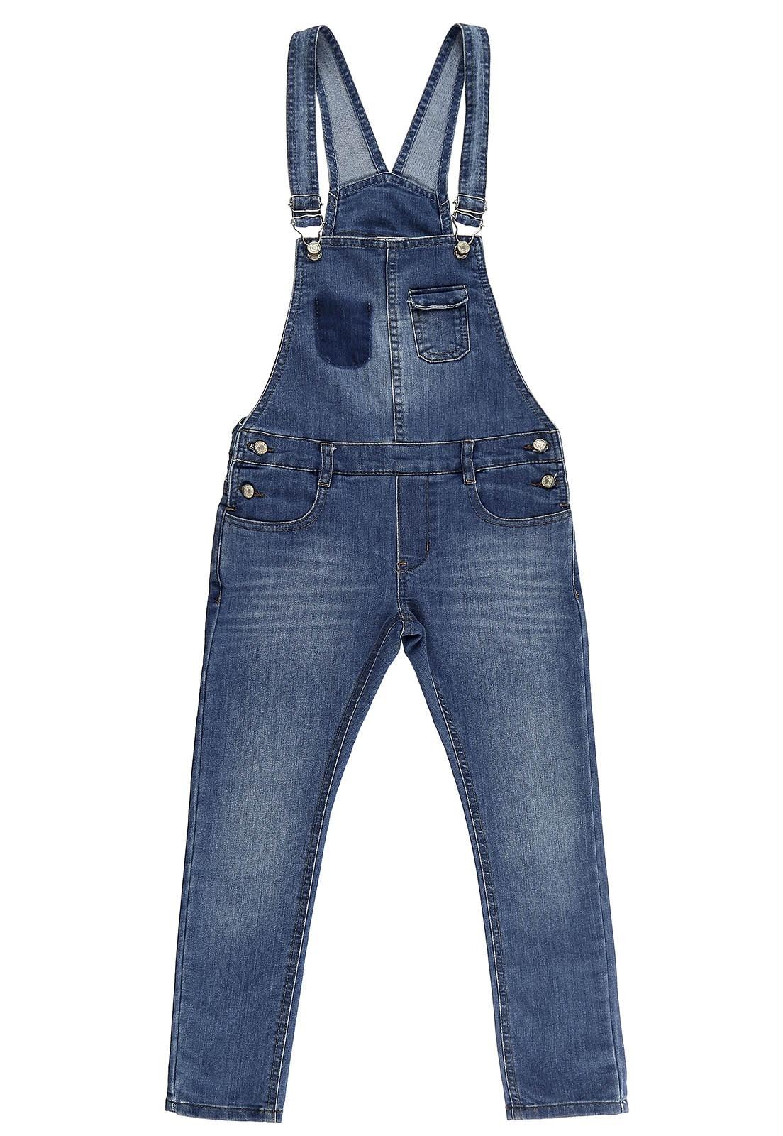 Jardineira Masculina Crawling Jeans