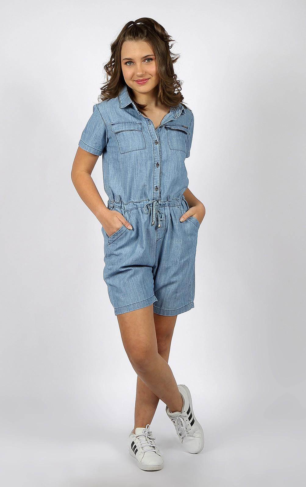 Macaquinho Crawling Jeans Feminino