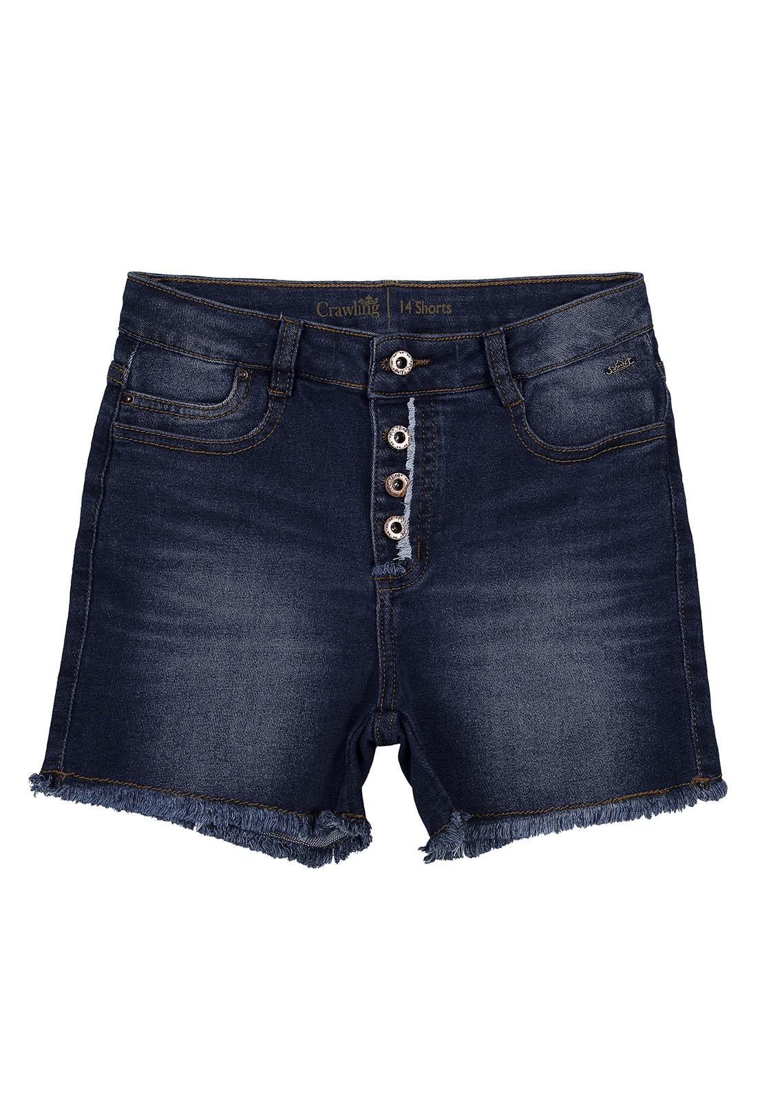 Short Crawlilng Jeans Feminino