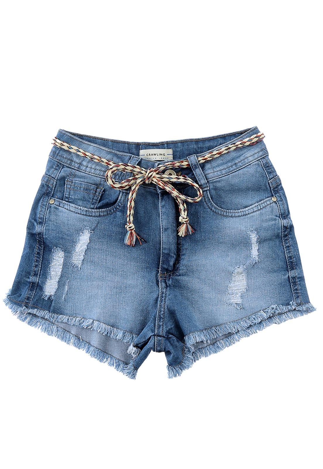 Short Feminino Asa Delta Crawling Jeans