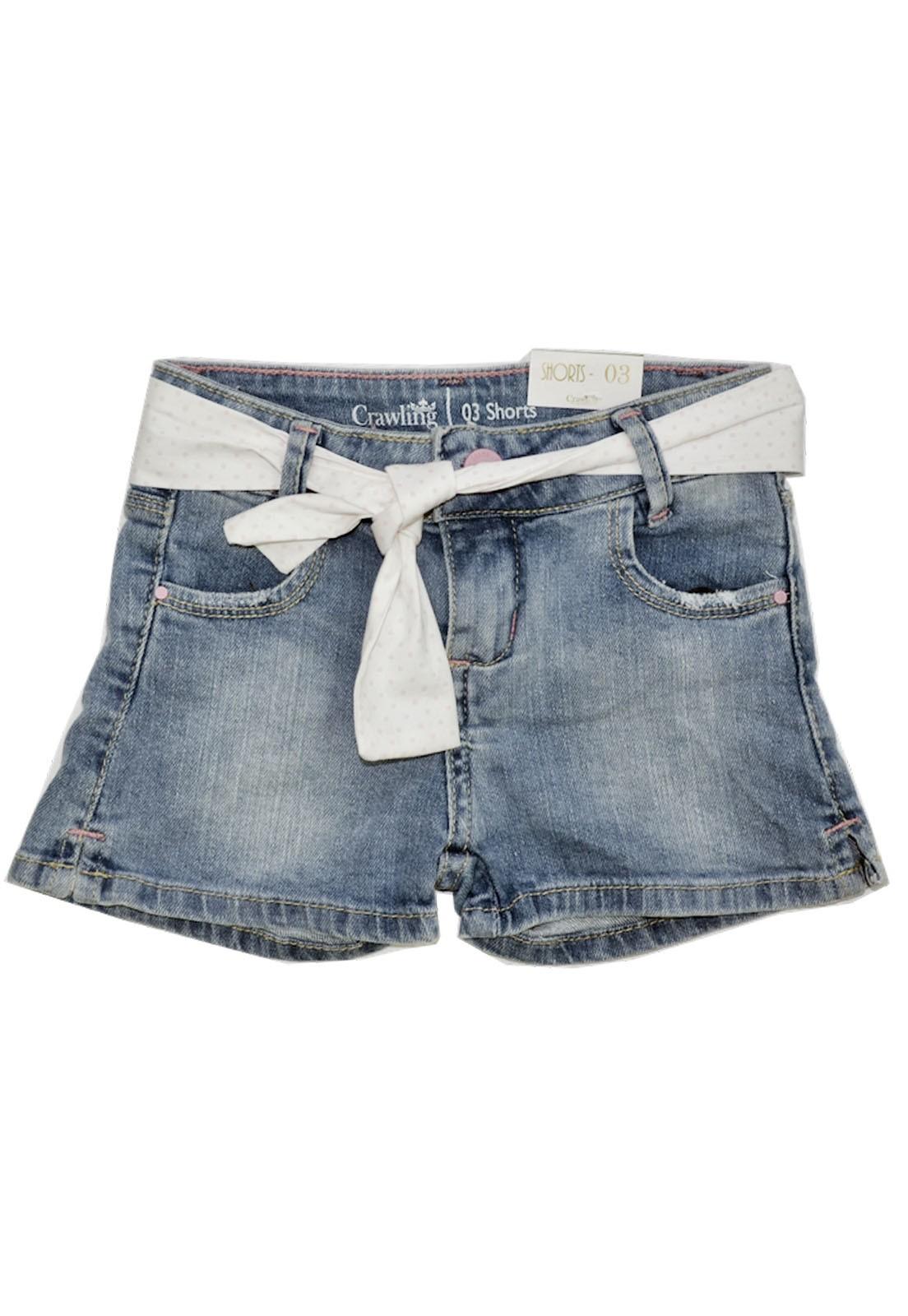 Short Feminino Com Cinto Crawling Jeans
