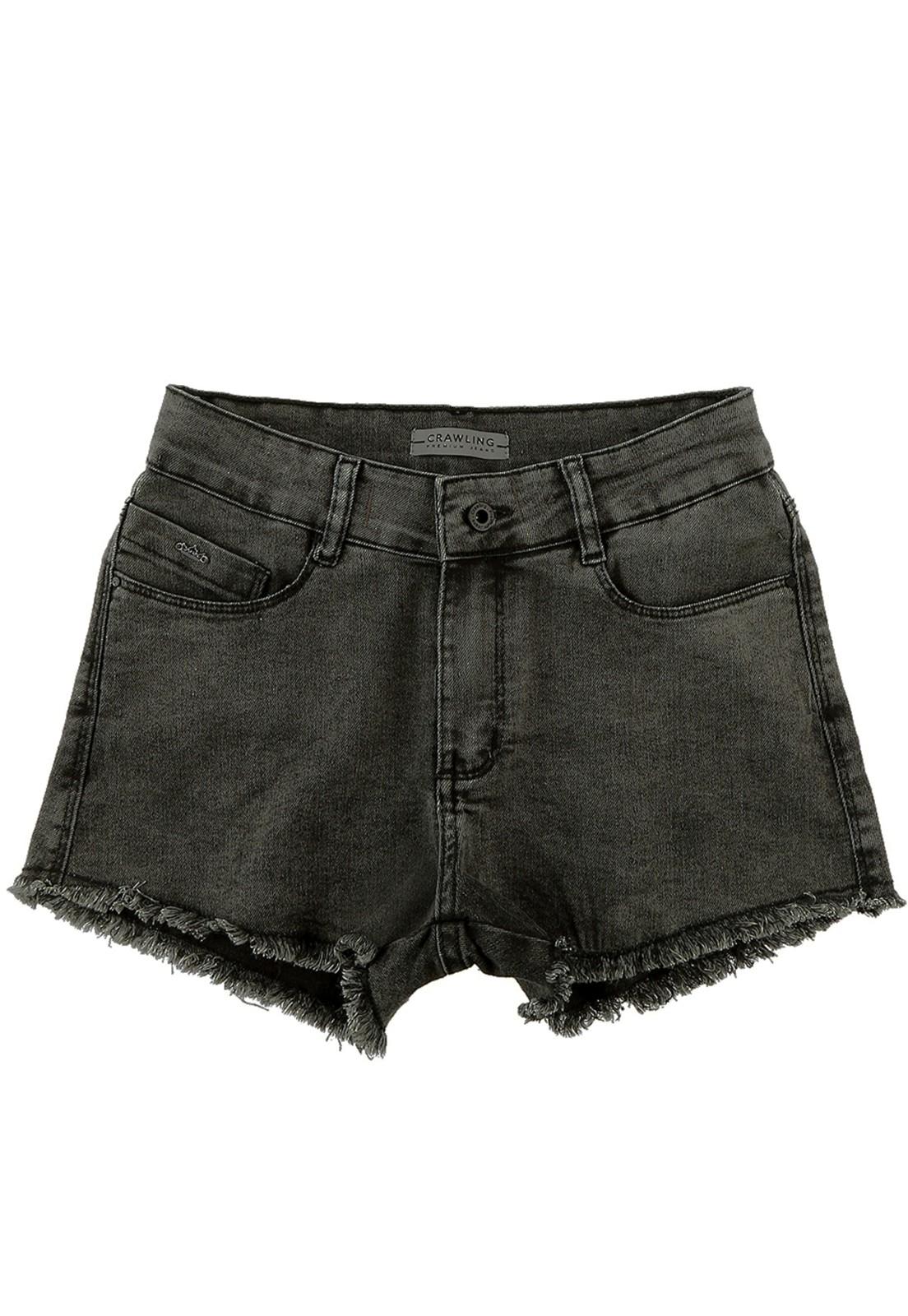 Short Feminino Comfort Crawling Black