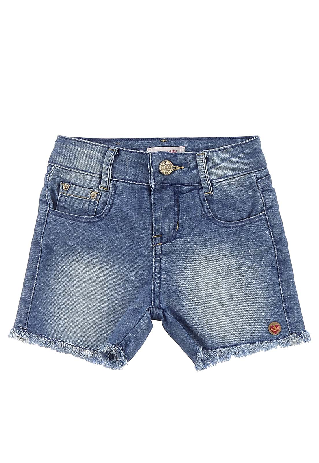 Short Feminino Crawling Jeans Baby Girl