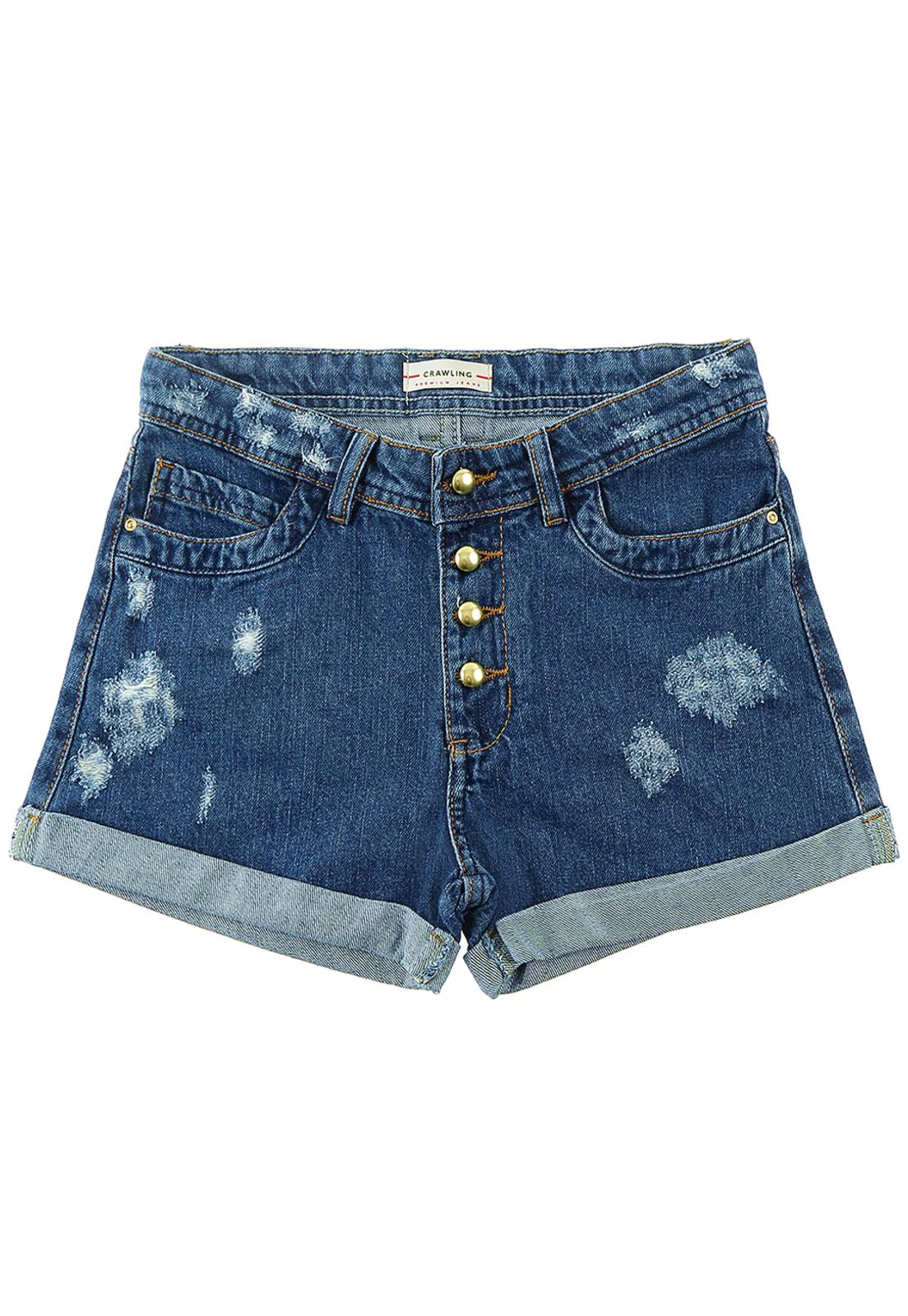 Short Feminino Crawling Jeans Comfort