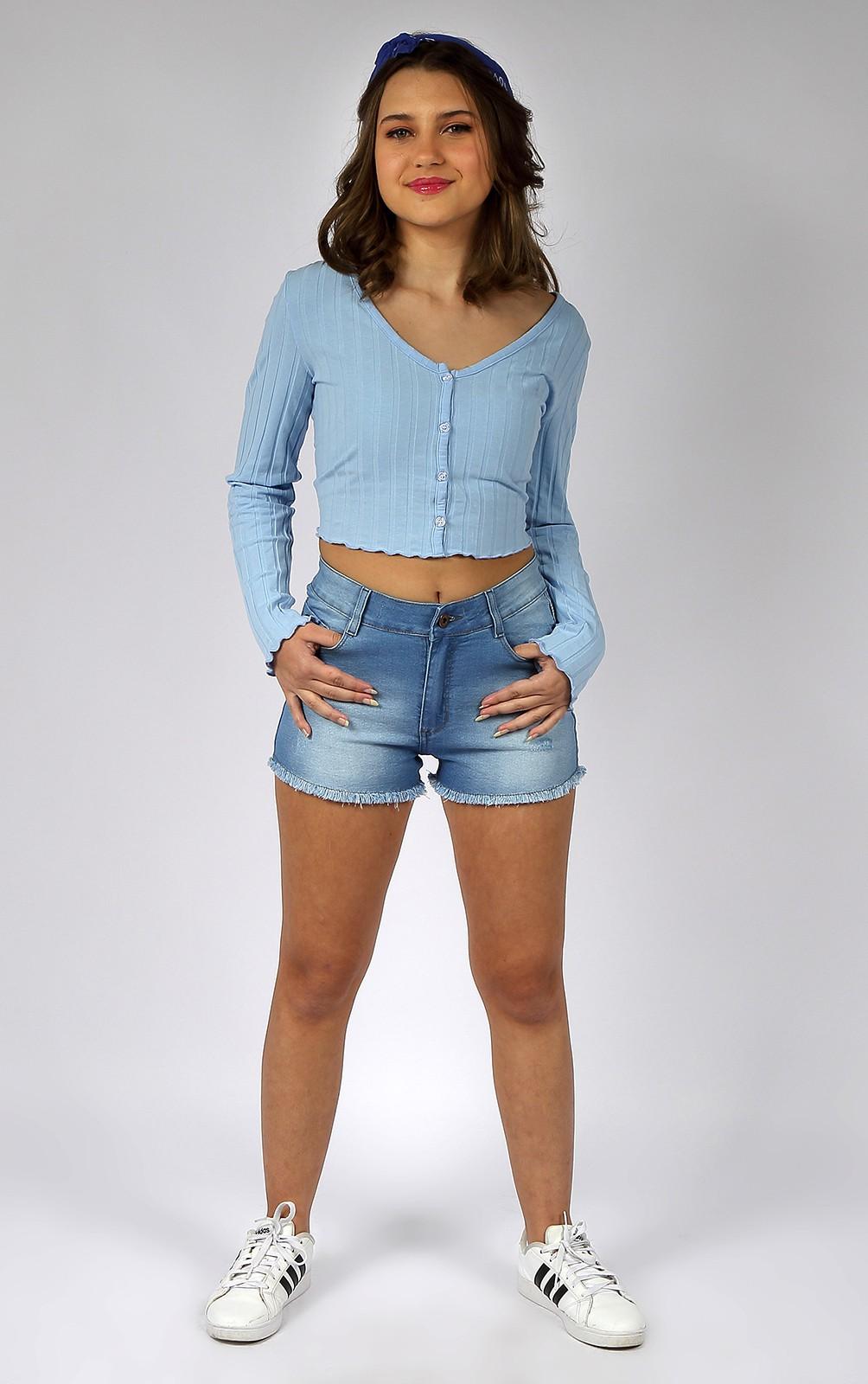 Short Feminino Jeans Crawling Comfort